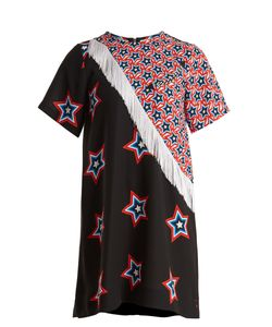 House Of Holland   Star And Stripe-Print Contrast Dress
