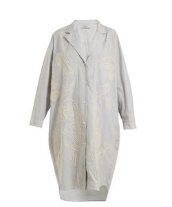 Rachel Comey | Risible Embroidered Striped Shirtdress