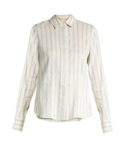 BROCK COLLECTION | Baylee Striped Stretch-Linen Shirt