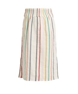 ACE & JIG | Ramona Embroidered-Stripe Cotton Skirt