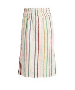 ACE & JIG | Ramona Embroidered-Stripe Cotton Skirt