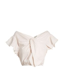 Rachel Comey | Crush Cotton-Seersucker Cropped Top