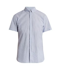 Oliver Spencer | Aston Short-Sleeved Cotton And Linen-Blend Shirt