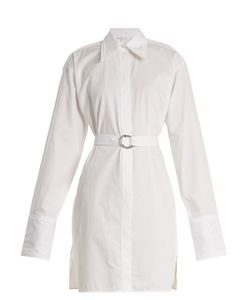 Helmut Lang | Striped Tie-Waist Cotton Shirtdress