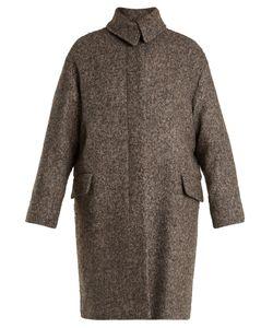 Vanessa Bruno | Point-Collar Herringbone-Tweed Wool-Blend Coat