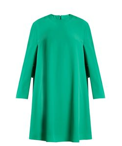 Balenciaga | Long-Sleeved Crepe Mini Dress