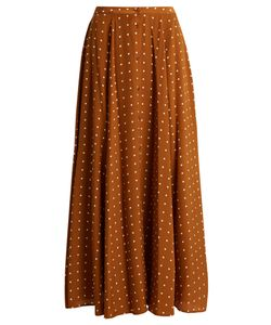 Diane Von Furstenberg | Button-Through Arbor Dot-Print Silk Skirt