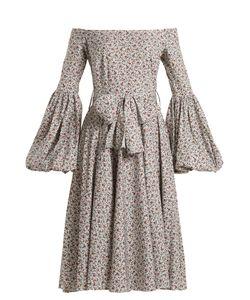 Caroline Constas | Gisele Print Cotton-Blend Dress