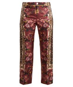 F.R.S For Restless Sleepers | Russian Foulard-Print Silk-Twill Pyjama Bottoms