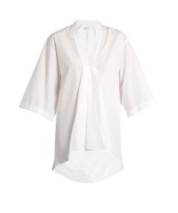 Amanda Wakeley | Signature Lindbergh V-Neck Cotton Shirt