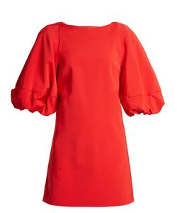 Tibi | Balloon-Sleeved Faille Mini Dress