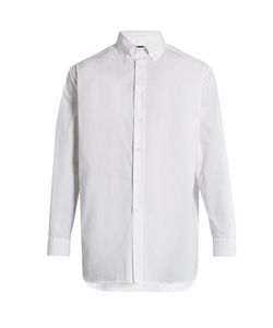 Raf Simons | Embroidered-Back Stretch-Cotton Shirt