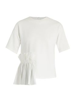 Muveil | Frill-Panel Short Sleeved Top