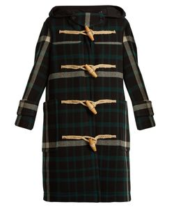 Burberry | Salhouse Hooded Tartan Wool Coat