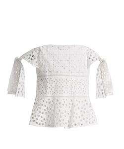 Rebecca Taylor | Amora Broderie-Anglaise Cotton Top