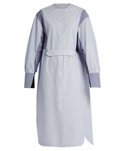 Joseph | Eli Slit-Cuff Striped Cotton Shirtdress