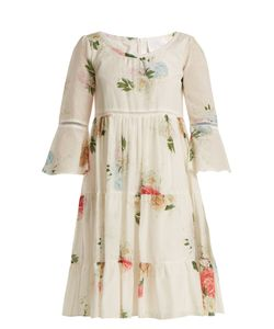 Athena Procopiou | Summer Bloom Cotton And Silk-Blend Dress