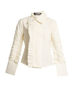 JACQUEMUS | Ruffle-Trimmed Stretch-Woven Shirt