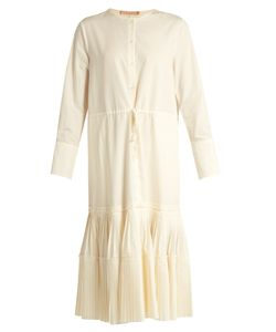 BROCK COLLECTION | Dorraine Pleated-Panel Cotton-Blend Midi Dress