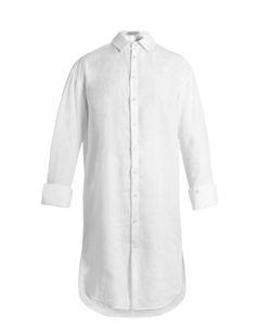 PALMER/HARDING   Long-Line Step-Hem Shirt