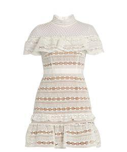 SELF-PORTRAIT | Ruffled-Yoke Lace Dress