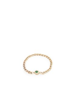 LOREN STEWART | Emerald Chain Ring