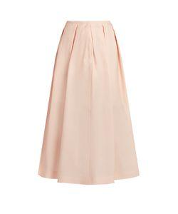 Rochas | Pleated Crepe-Gazar Midi Skirt
