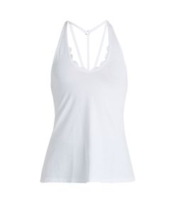 Track & Bliss | Scalloped Sweetheart Performance Tank Top