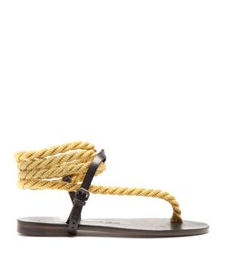 ÁLVARO | Aurore Rope And Leather Sandals