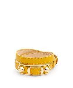Balenciaga | Edge Wraparound Leather Bracelet