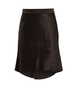 RAEY   Bias Godet Silk-Satin Slip Skirt