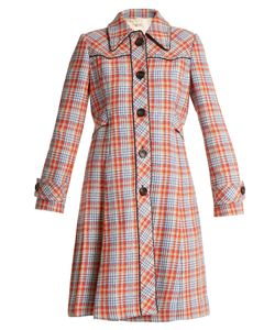 Miu Miu | Stud-Embellished Checked Coat
