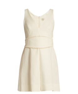 Zimmermann | Painted Heart V-Neck Linen Dress
