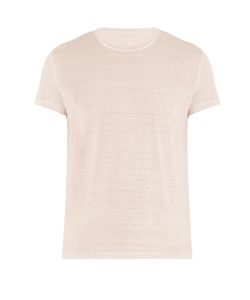 120% Lino | Crew-Neck Linen T-Shirt