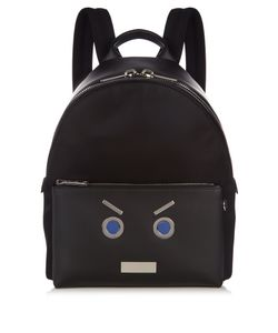 Fendi | No Words Leather-Trimmed Backpack