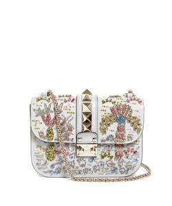 Valentino | Lock Medium Embellished Leather Shoulder Bag