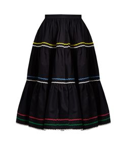 ANNA OCTOBER | Ric-Rac Trimmed Cotton Skirt