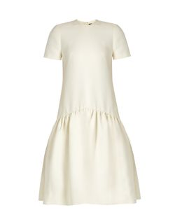 Alexander McQueen | Dropped-Waist Wool-Blend Dress
