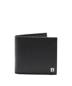 Balenciaga | Chevron Striped Bi-Fold Wallet