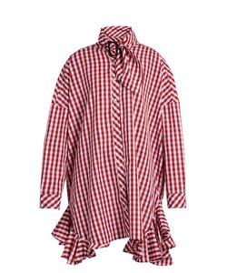 House Of Holland | Ruffle-Trimmed Gingham Shirtdress