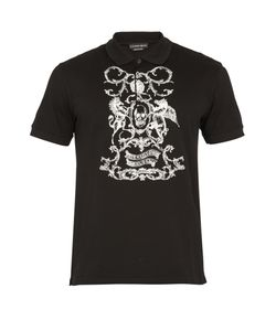 Alexander McQueen | Crest-Embroidered Cotton-Piqué Polo Shirt