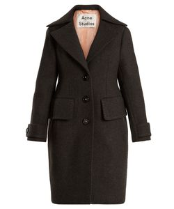 Acne | Cherl T Melton Single-Breasted Wool Coat