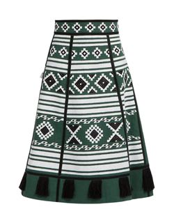 Vita Kin   Croatia Embroidered Linen Skirt