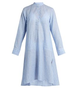 PALMER/HARDING | Stand-Collar Long-Sleeved Striped Kaftan