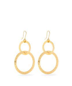 Sylvia Toledano | Textured Plated Hoop Drop Earrings