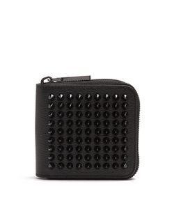 Christian Louboutin | Panettone Spike-Embellished Square Leather Wallet