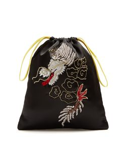 ATTICO | Dragon-Embroidered Satin Pouch