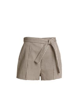 Zimmermann | Paradiso Gingham Drill Shorts