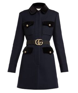 a9a17b281 Женское Желтый Pintucked Butterfly-Embellished Belt Coat Gucci 1184708