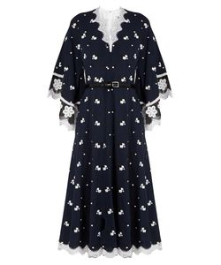 Andrew Gn | -Embroidered Silk And Cotton-Blend Dress